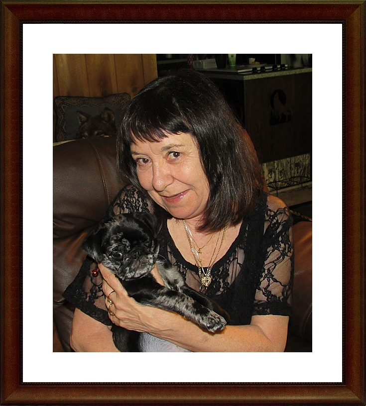 Cocoa's/Moody Blue's Aragorn/Teddy with his new mom Teresa