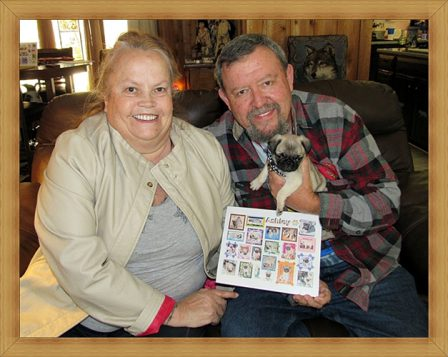 Cocoa's Ashley/Muffin with her new mom (Bonnie) and dad (Roger) - Fawn Pug Puppies   The one absolutely unselfish friend that man can have in this selfish world, the one that never deserts him, the one that never proves ungrateful or treacherous, is his dog.