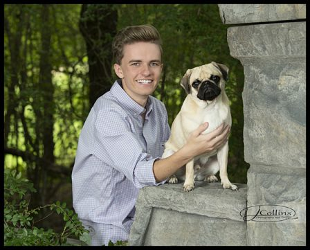 Two very good looking young men, Will & Bo! - Adult Fawn Pug | Outside of a dog, a book is man's best friend - inside of a dog it's too dark to read.