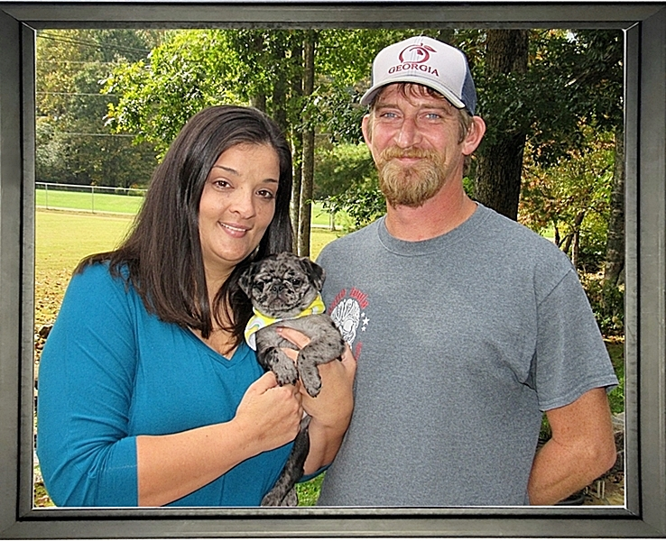 Lady Blue's Beth/Luna Pearl with her new mom and dad