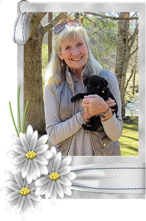 Lady Blue's Cynthia/Emmy Lou with her new mom Gayle - Black Pug Puppies | History is full of examples of the fidelity of dogs than of friends.
