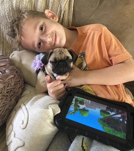 Does your child put down his Ipad for his puppy?