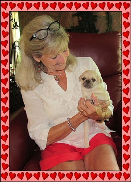 Cocoa's Galadriel/Millie with her new mom Gayle