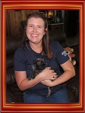 Helen and her new mom Skye - Brindle Pug Puppies | Don't accept your dog's admiration as conclusive evidence that you are wonderful.
