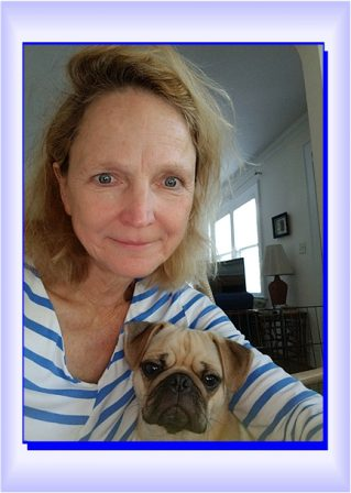 Dawn is crazy about her little man Korbin/Pepin - Adult Apricot Pug | Outside of a dog, a book is man's best friend - inside of a dog it's too dark to read.