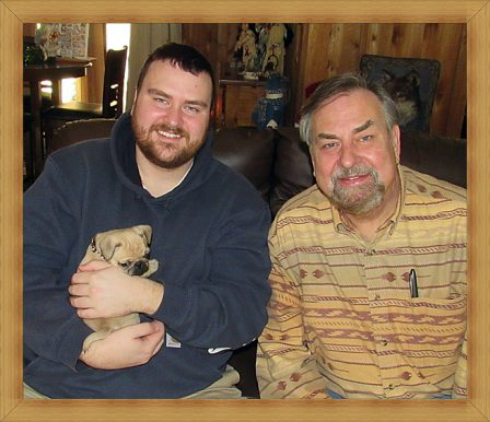 Dad picking up Mushu/Dolly as a birthday surprise - Fawn Pug Puppies | My goal in life is to be as good of a person my dog already thinks I am.