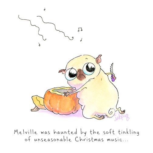 For the cutest pug cartoons ever, check out Inkpug