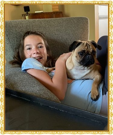 Ruffles keeps everyone in the family company - Part III - Adult Apricot Pug | Once you have had a wonderful dog, a life without one is a life diminished.
