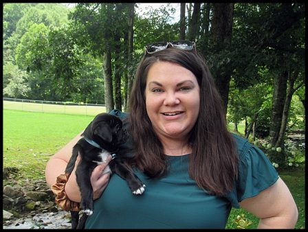 JoJo's/Hondo's Rhett with his new mom MarthaAnne - Black Pug Puppies | Such short lives our dogs have to spend with us, and they spend most of it waiting for us to come home each day.