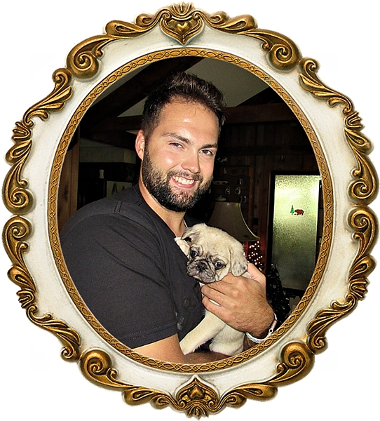 Lady Blue's Rip/Roscoe with his new dad Alex
