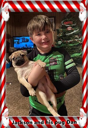 Jackson's surprise Christmas present! - Fawn Pug Puppies | Did you ever walk into a room and forget why you walked in? I think that is how dogs spend their lives.