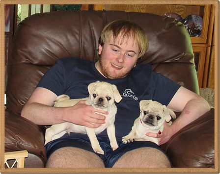 Double the trouble and soon there will be three! - White Pug Puppies | No one appreciates the very special genius of your conversation as the dog does.