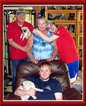 The Luther Family adopting their 2nd puppy Sam - White Pug Puppies | Dogs love their friends and bite their enemies, quite unlike people, who are incapable of pure love and always mix love and hate.