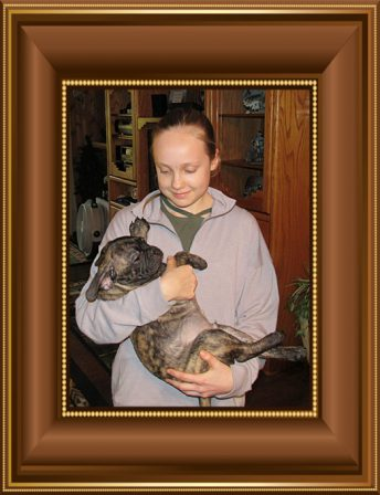 A girl and her Bugg! - Brindle Pug Puppies | Whoever said you can't buy happiness forgot little puppies.