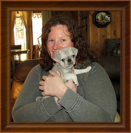 Lindsay and her chinchilla pug Vivian - Multiple Color Pugs Puppies   If I have any beliefs about immortality, it is that certain dogs I have known will go to heaven, and very, very few persons.