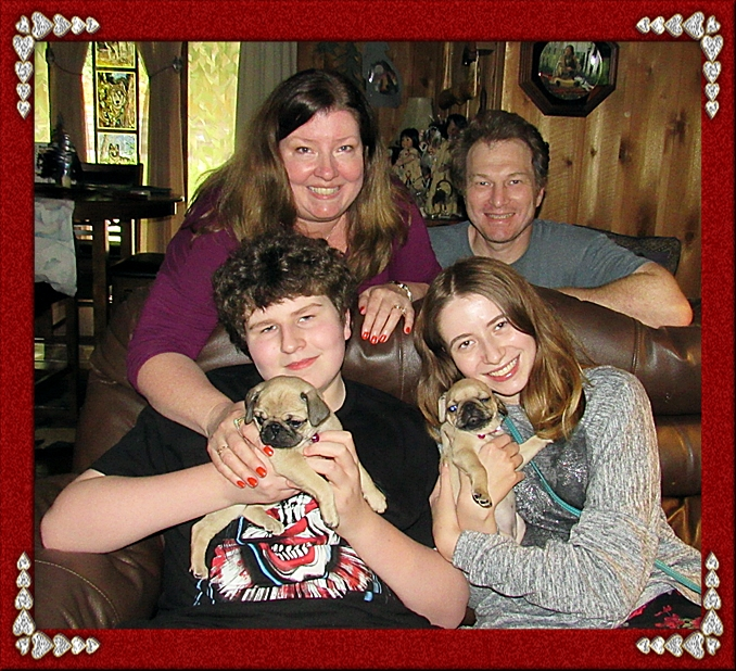 Puddin's little girl Willow/Violet with her new family